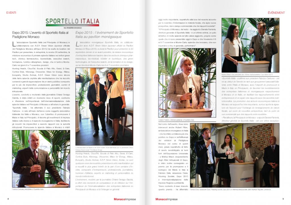 Monaco Imprese 31 - Evento Expo 2015