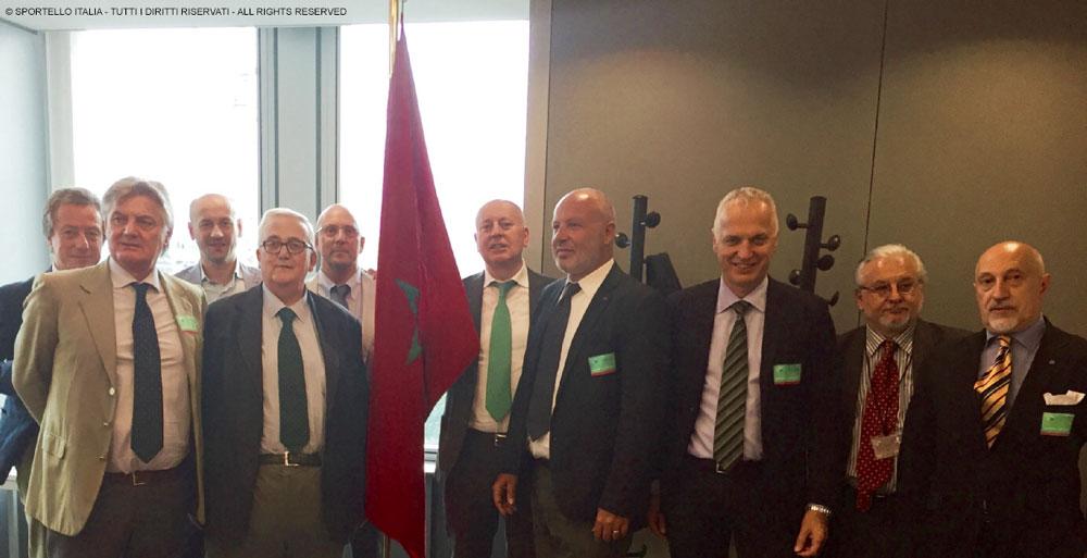 Alcuni delegati italiani all'incontro con il regno del Marocco presso il Parlamento Europeo
