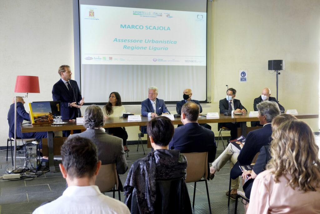 L'intervento dell'assessore all'urbanistica della Regione Liguria Marco Scajola